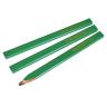 Faithfull Carpenter's Pencils Green/Hard Pack of 3