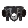 Polypipe Drain Shallow Access Chamber Base 320mm Black