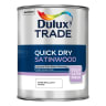Dulux Trade Quick Dry Satinwood Paint 1L Pure Brilliant White