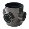 OsmaSoil Ring Seal System Bossed Pipe Double Switch 110mm Black