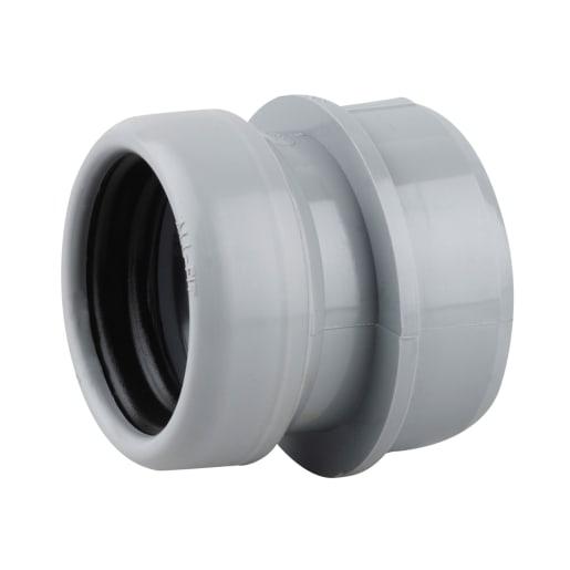 OsmaSoil Boss Socket Adaptor 40mm Grey