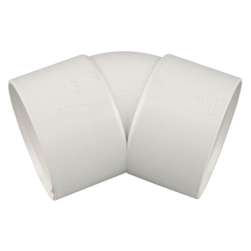 OsmaWeld 45° Bend 32mm White