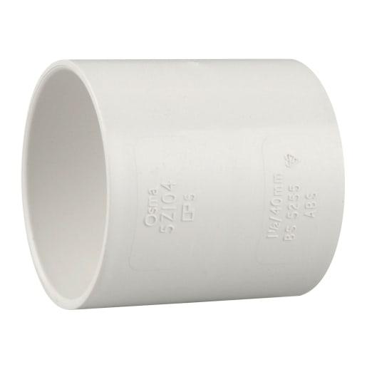 Osma Double Socket Pipe 48 x 40mm White