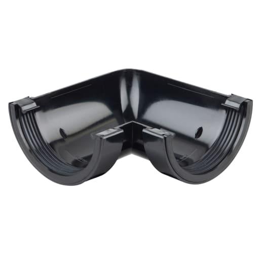 Osma RoundLine Gutter Angle 90° 112mm Black