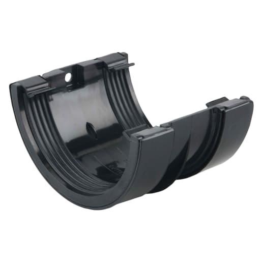Osma RoundLine Gutter Joint Bracket 112mm Black