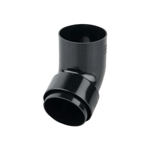 Osma RoundLine Offset Bend Spigot 68mm Black