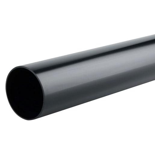 Osma RoundLine Downpipe Black 68mm Black