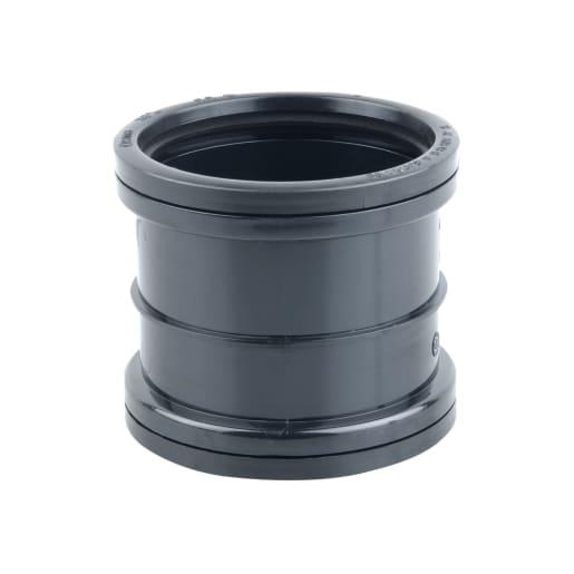 OsmaSoil Double Socket Slip Coupler 110mm Black