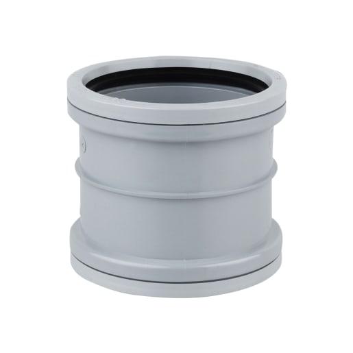 OsmaSoil Double Socket Slip Coupler 110mm Grey
