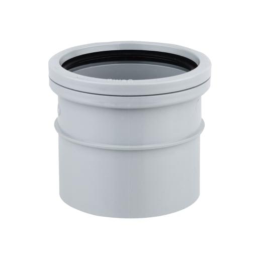 OsmaSoil Solvent Welded Single Socket 110mm Grey
