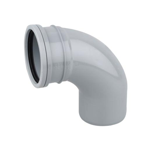 OsmaSoil 90° Seal Soil Bend 110mm Grey