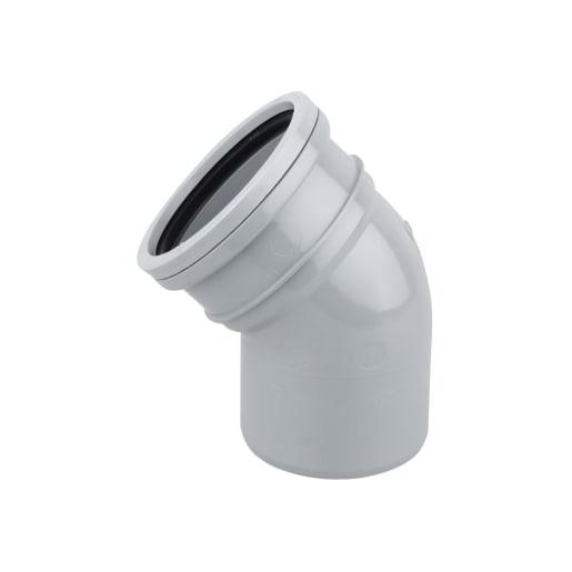 OsmaSoil 45° Seal Soil Bend 110mm Grey