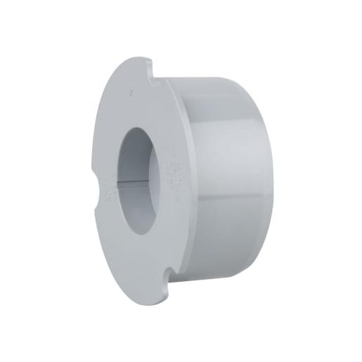 OsmaSoil Plain Ended Socket Plug 110mm Grey