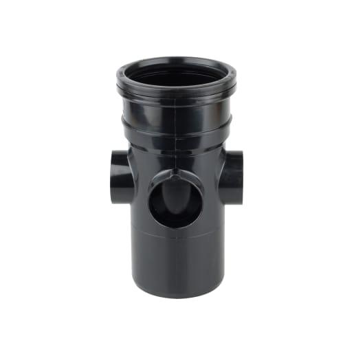 OsmaSoil Ring Seal System Bossed Pipe Black 110mmDia