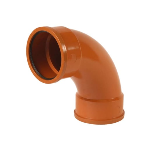 Polypipe Drain 87.5° Double Socket Bend 110mm Brown