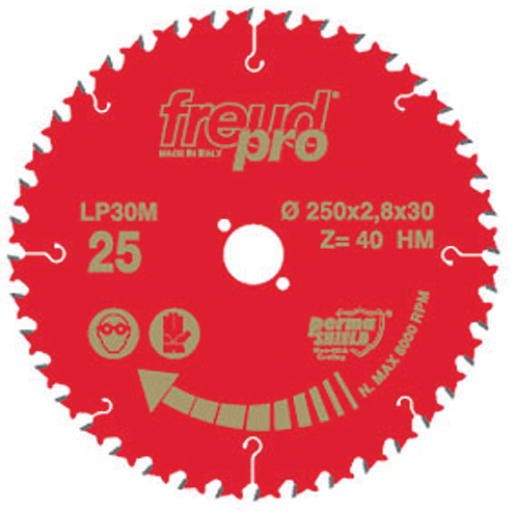 Freud General Purpose Saw Blade TCT 250mm Red