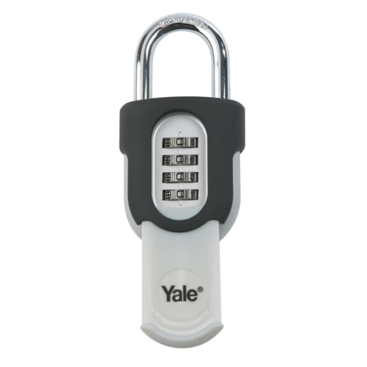 Yale Combination Padlock with Slide Cover 53.6 x 66.5 x 32mm Black