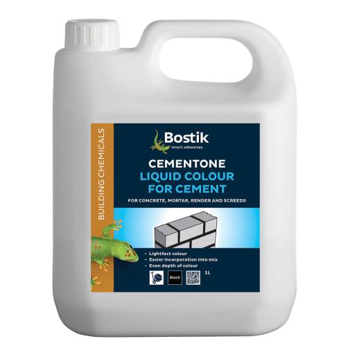 Bostik Cementone Liquid Colour for Cement 1L Black