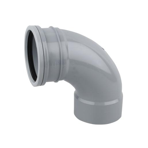 OsmaSoil Single Socket Weld Bend 87.5° 110mm Grey