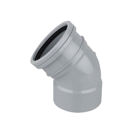 OsmaSoil Ring-Seal/Solvent Weld Bend 45° 110mm Grey