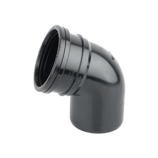 OsmaSoil Ring Seal System Single Socket Offset Bend 110mm Black