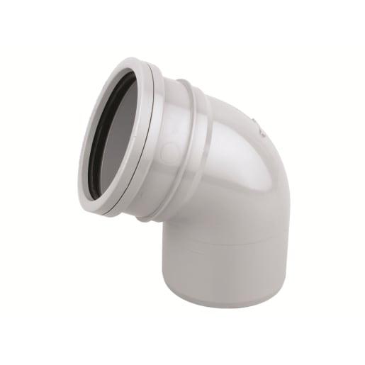 OsmaSoil Ring Seal System Single Socket Offset Bend 110mm Grey