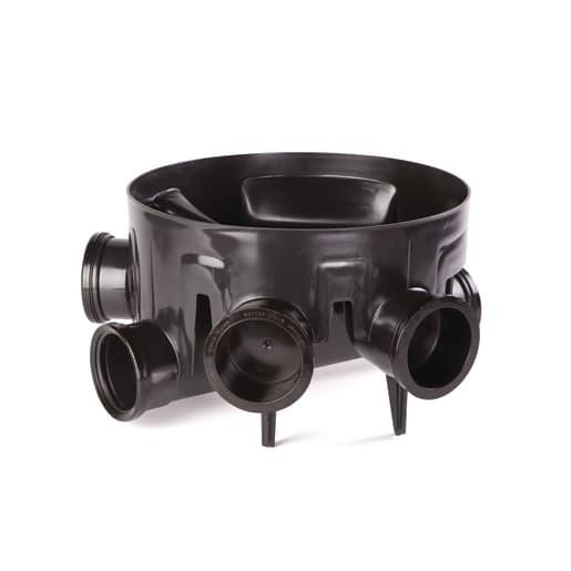 OsmaDrain Universal Chamber Base Straight Channel 110mm Black