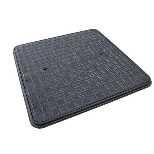 EJ Manhole Cover Frame Cast Iron A15 600 x 600mm Grey
