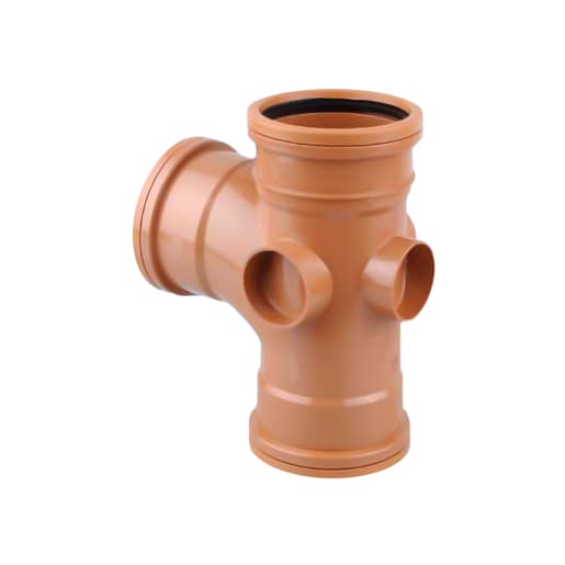 OsmaDrain Equal Junction Double Socket 210 x 280 x 132mm Brown