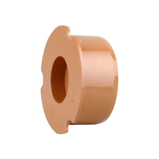 OsmaDrain Plain End Socket Plug 110mm Brown
