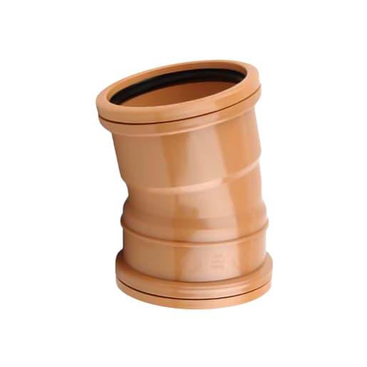 OsmaDrain 11.25° Double Socket Bend 110mm Brown
