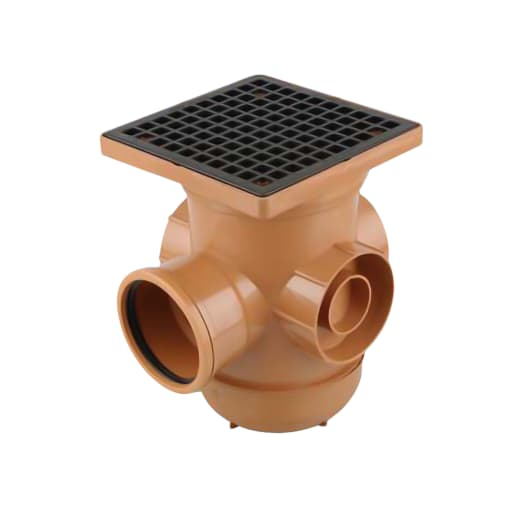 OsmaDrain Cover Frame 87.50° Spare Bottle Gully 110 Brown