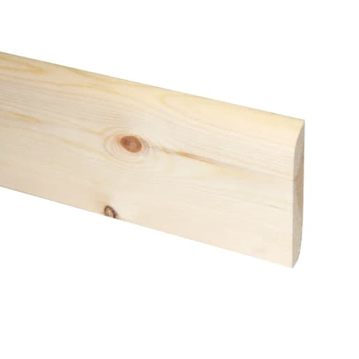 Redwood Chamf & Rounded Architrave 19 x 75mm (act size 14.5 x 70mm)