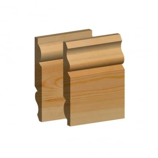 Std Redwood Torus/Ogee Skirting 25 x 125mm (act size 20.5mm x 120mm)