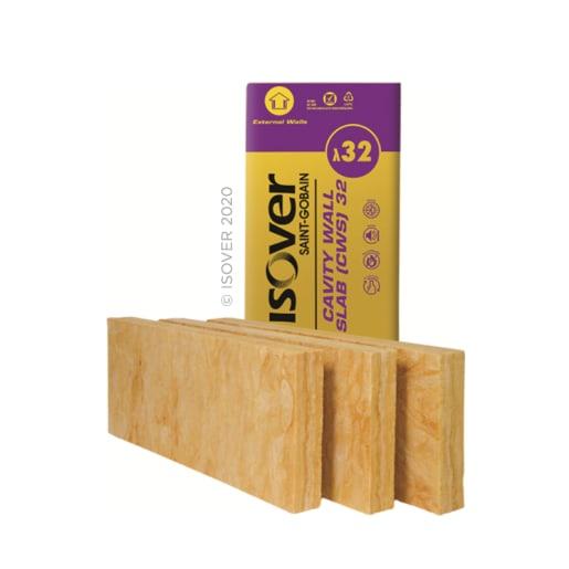 Isover Cavity Wall Slab 32, 1200 x 455 x 100mm