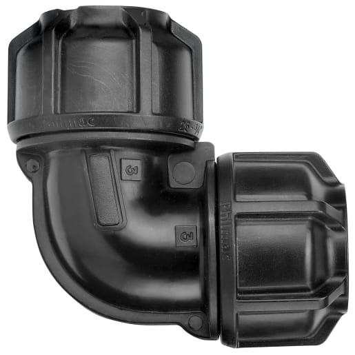 Philmac Elbow 32mm Black