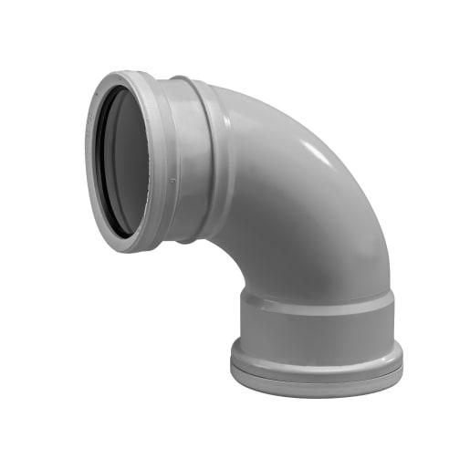 OsmaSoil Double Socket Soil Bend 87.5° 110mm Grey