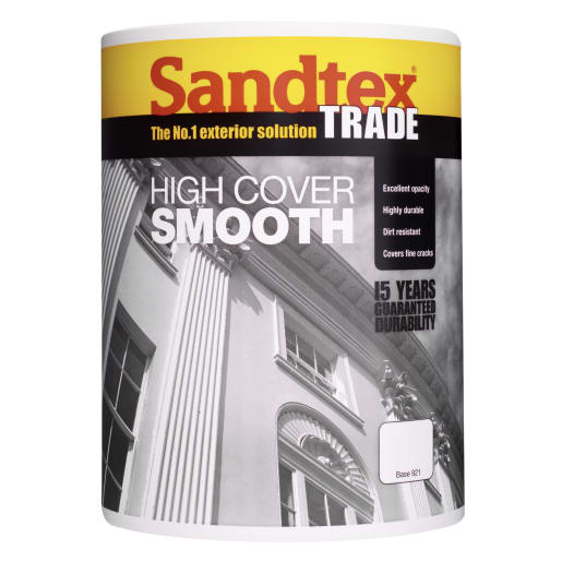 Sandtex High Cover Smooth Paint 5L Brilliant White