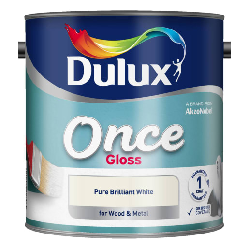 Dulux Once Gloss Paint 2.5L Pure Brilliant White
