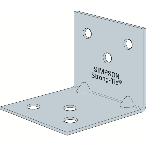 Simpson Strong-Tie Light Reinforced Angle Bracket 60 x 60 x 40 x 2mm