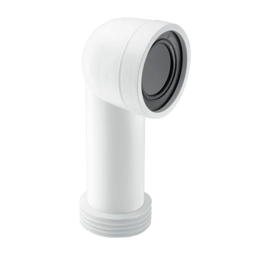 McAlpine Rigid Adjustable Length 90° WC Connector