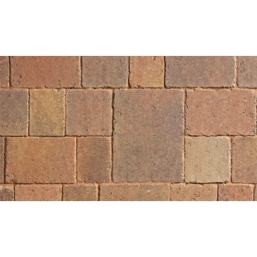 Marshalls Drivesett Tegula Autumn Brown Block Paving 160 x 160 x 50mm
