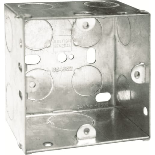 BG Electrical Steel Knockout Box 1 Gang 47mm Silver