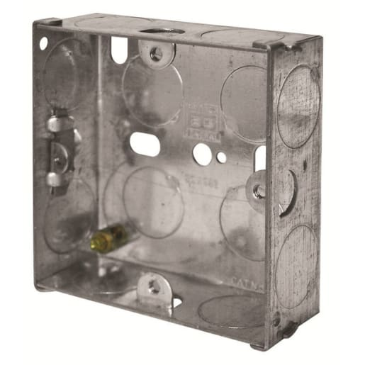 BG Electrical Steel Knockout Box 1 Gang 25mm Silver