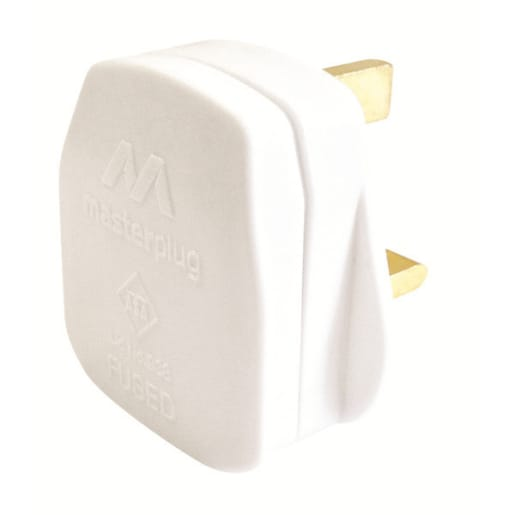 Masterplug 13A Plug Fitted With Fuse White