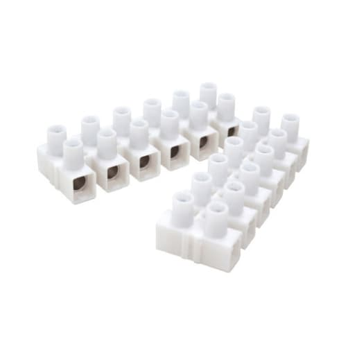 Nexus Connector Strips 15A 6Way White Pack of 2
