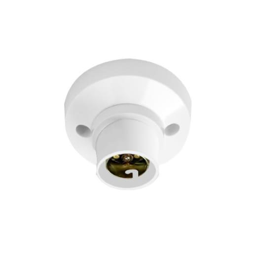 BG Electrical 3 Terminal Batten Lamp Holder White