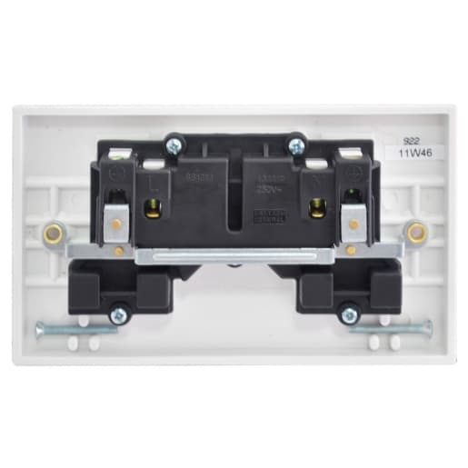 BG Electrical 2 Gang 13A Switch Socket Switched Double Pole White