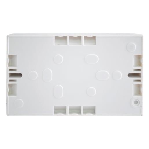 Nexus 2 Gang Surface Mounting Box White