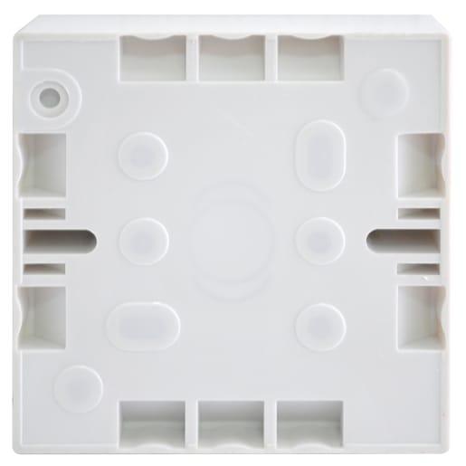 BG Electrical 1 Gang Surface Pattress Box 32mm White